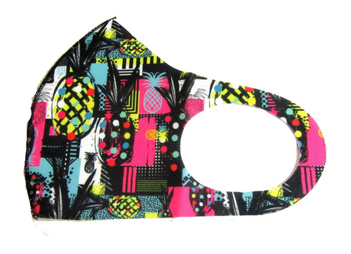Print Reusable Face Mask Washable Protection Fabric Face Cover, pineapple