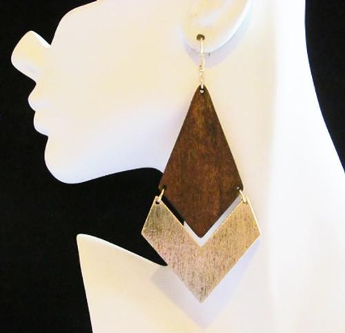 Wood Earrings-12905