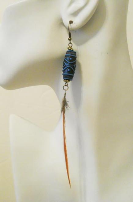 Feather Earrings-3872