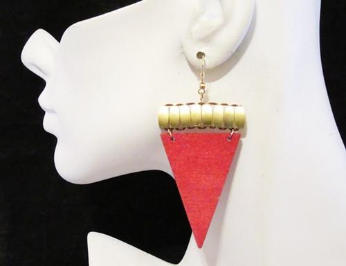 Wood Earrings-11930