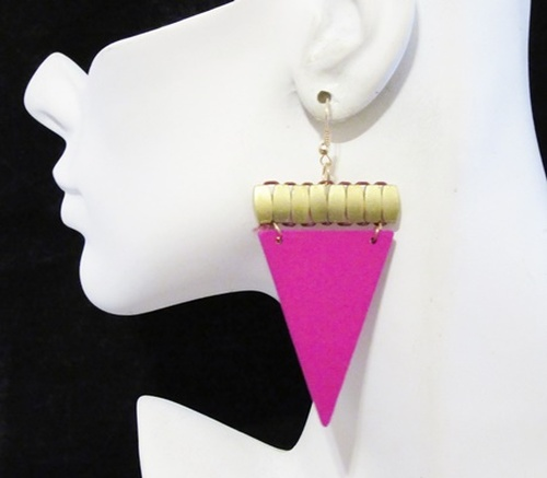 Wood Earrings-15930