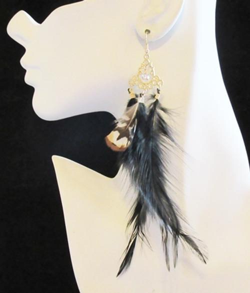 Feather Earrings-15950