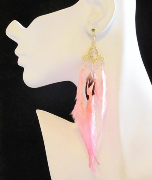Feather Earrings-12950