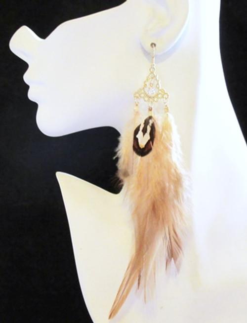 Feather Earrings-13950