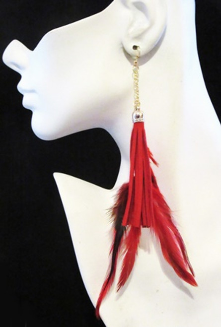 Feather Earrings-14960