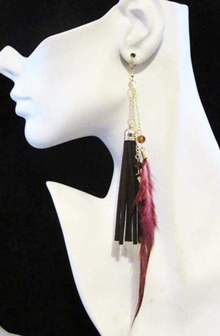 Feather Earrings-16960