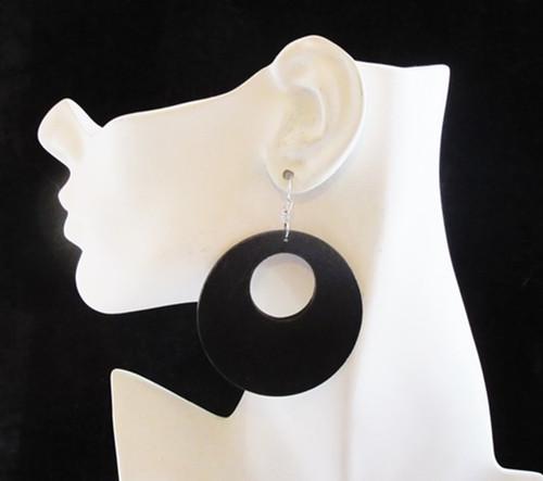 Wood Earrings-13998