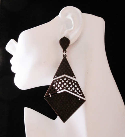 Wood Earrings-23006
