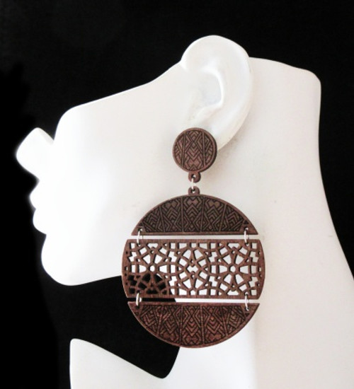 Wood Earrings-23007