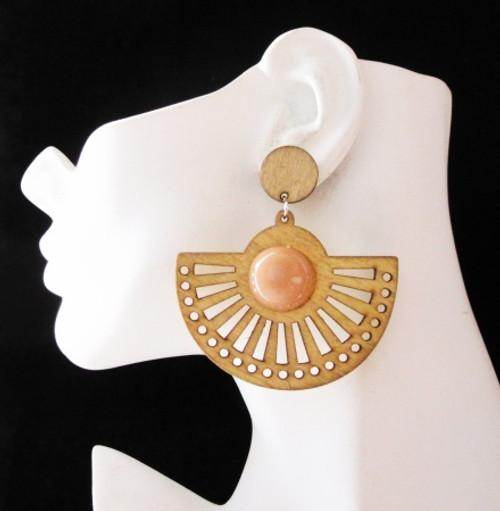 Wood Earrings-21008