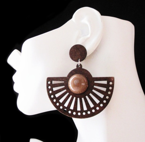 Wood Earrings-23008