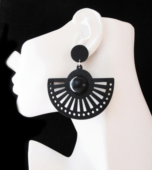 Wood Earrings-24008