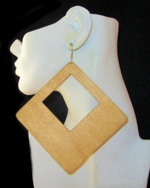 Wood Earrings-21009