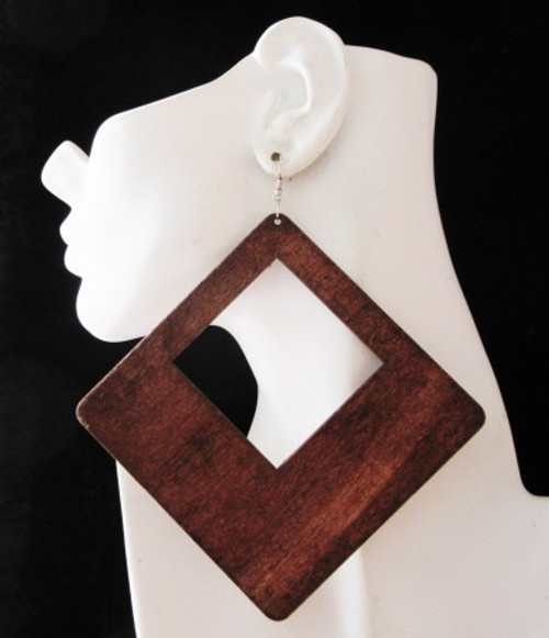 Wood Earrings-23009