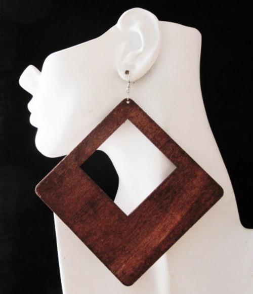 Wood Earrings-23009