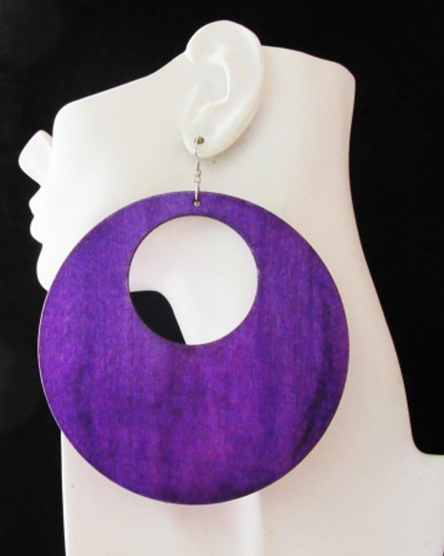 Wood Earrings-23010