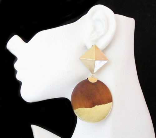 Wood Earrings-21021