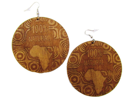 Wood Earrings-21039