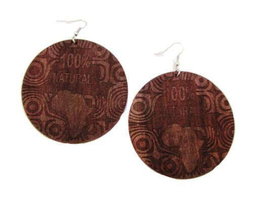 Wood Earrings-22039