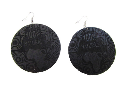 Wood Earrings-23039
