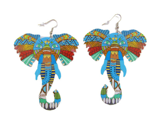 Wood Earrings-23040