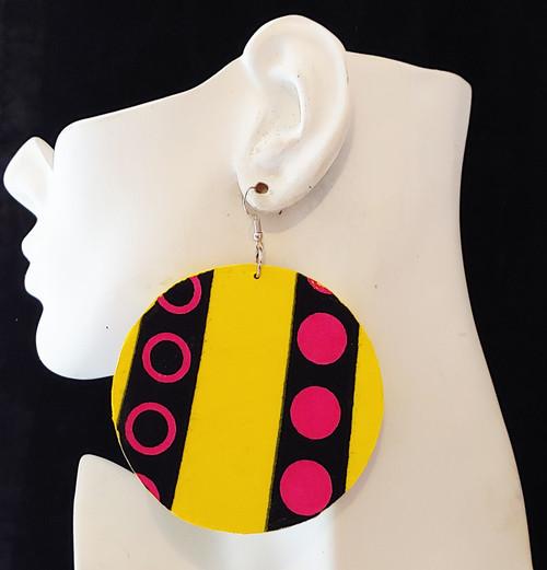 Wood Earrings-22042
