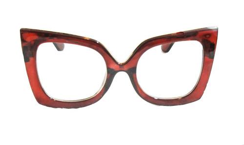 Women Square Cat eye Oversized Retro Clear GLASSES