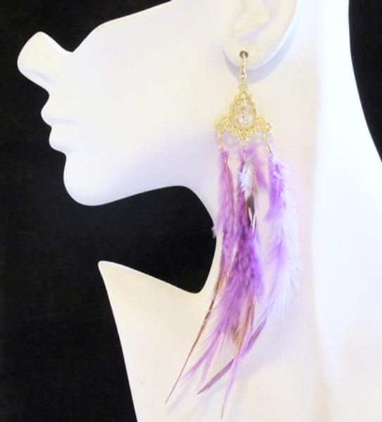 Feather Earrings-17950