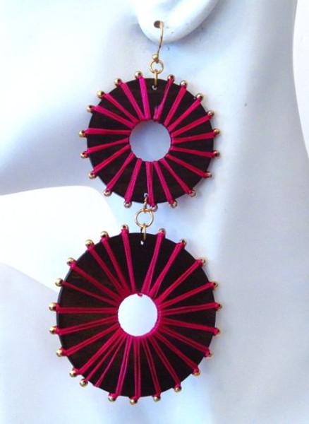 Wood Earrings-2966