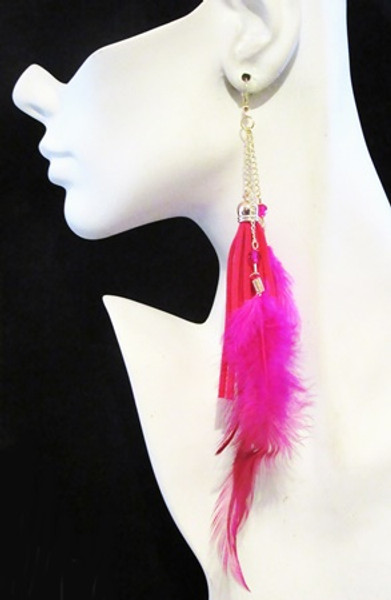 Feather Earrings-13960