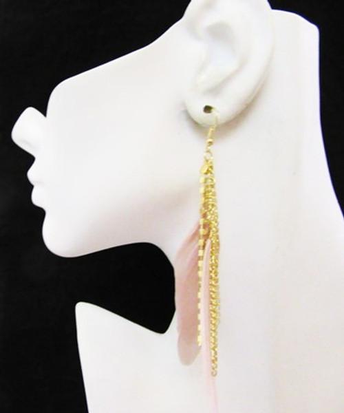 Feather Earrings-14977
