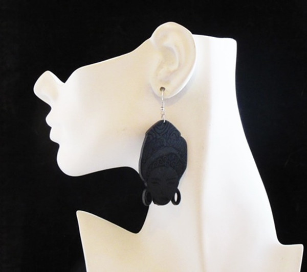 Wood Earrings-13999