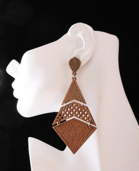 Wood Earrings-22006