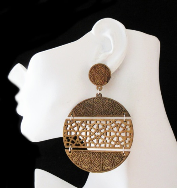 Wood Earrings-22007