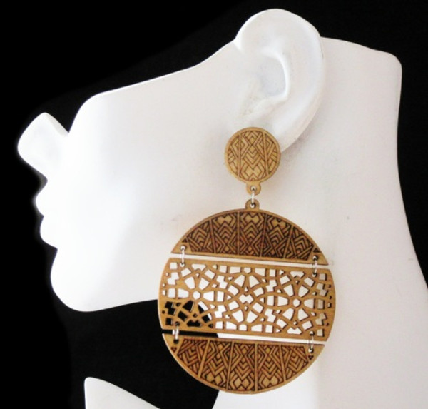 Wood Earrings-21007
