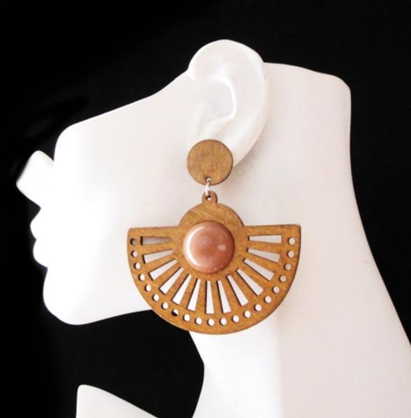 Wood Earrings-22008