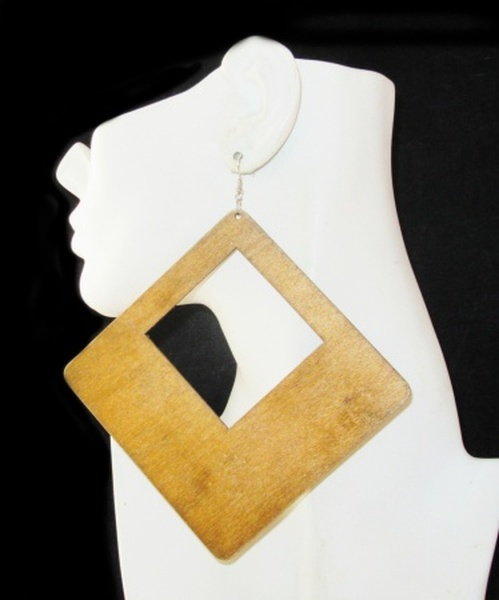 Wood Earrings-22009