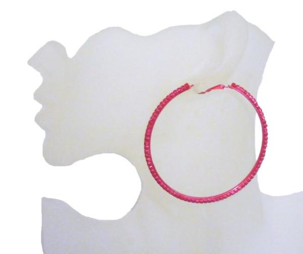 Rhinestone Hoop Earrings-22054