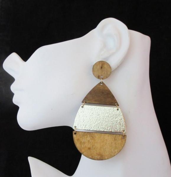 Wood Earrings-21019