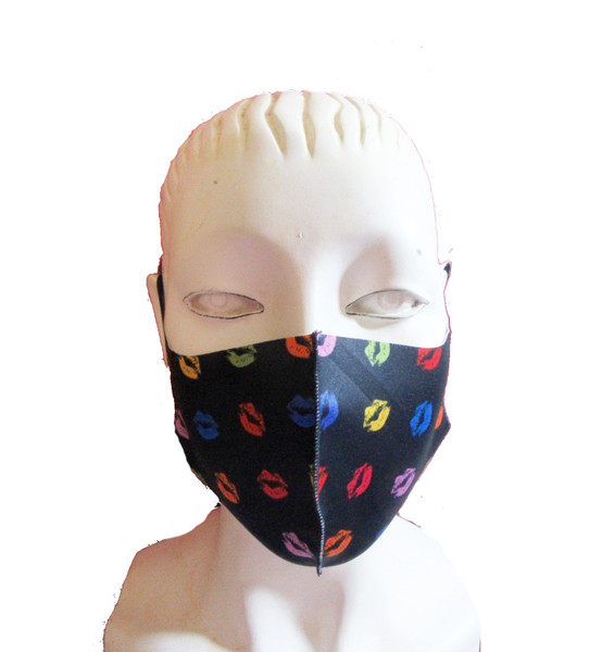 Lips Print Reusable Face Mask Washable Protection Fabric Face Cover,multi 2