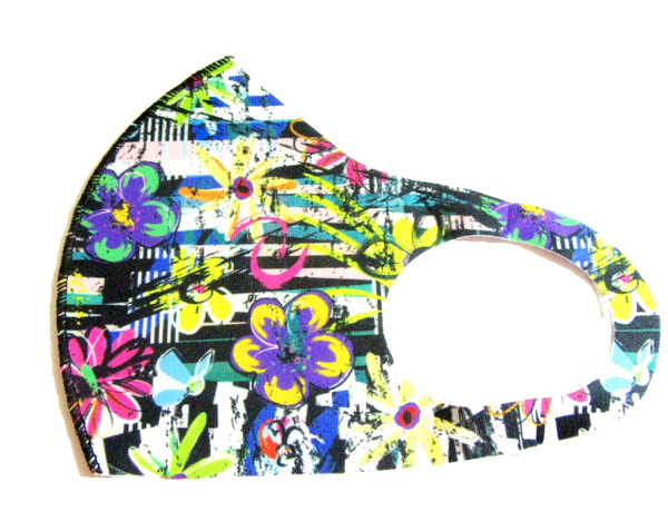 Reusable Face Mask Washable Protection Fabric Face Cover, flower