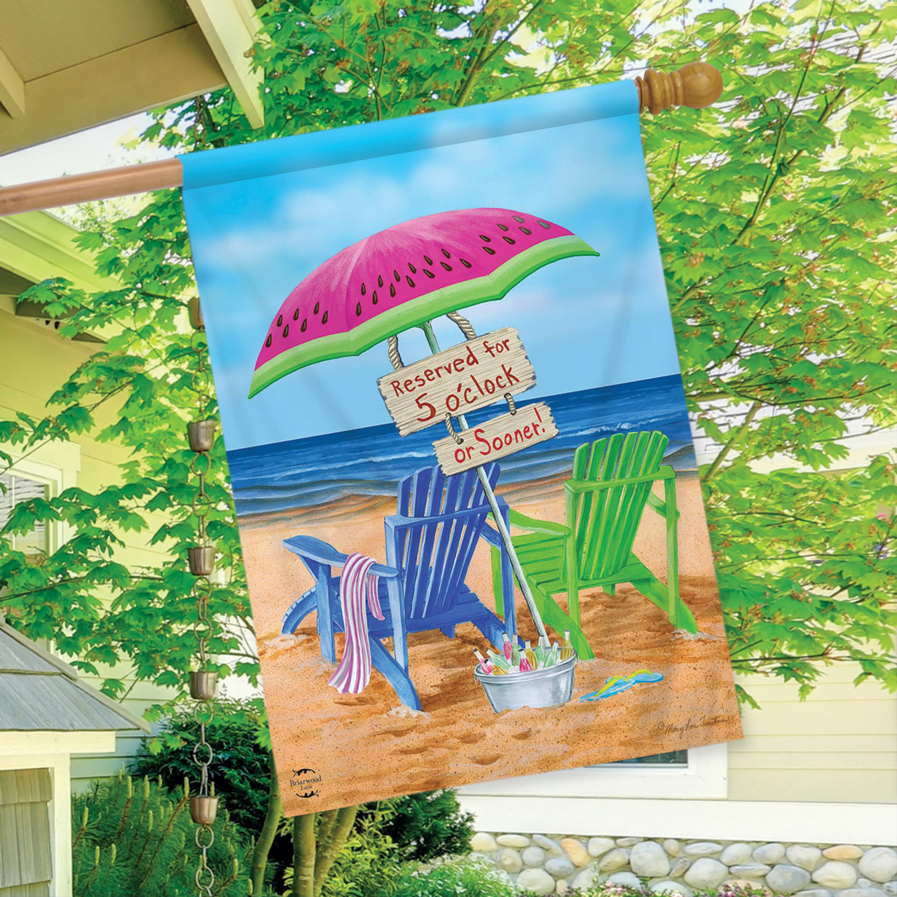 New Spring  Summer Beach Bums Garden Flag 12.5 x 18