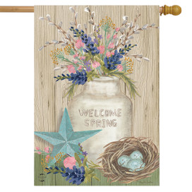 Gifts of Spring Primitive House Flag