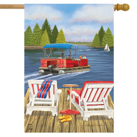 Dockside Lake Summer House Flag