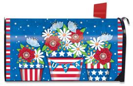 American Planter Patriotic Mailbox Cover