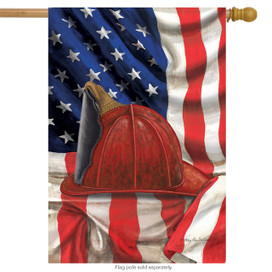 Fireman Helmet House Flag