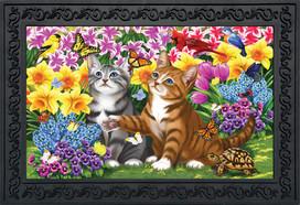 Garden Kittens Spring Doormat