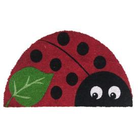 Ladybug Spring Natural Fiber Coir Doormat