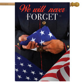 We Will Never Forget Military House Flag