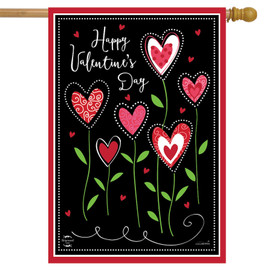 Valentine's Flowers House Flag